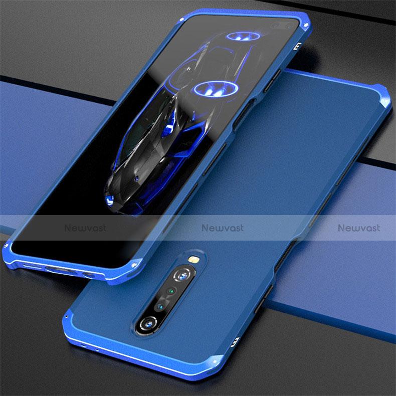Luxury Aluminum Metal Cover Case for Xiaomi Redmi K30 5G Blue