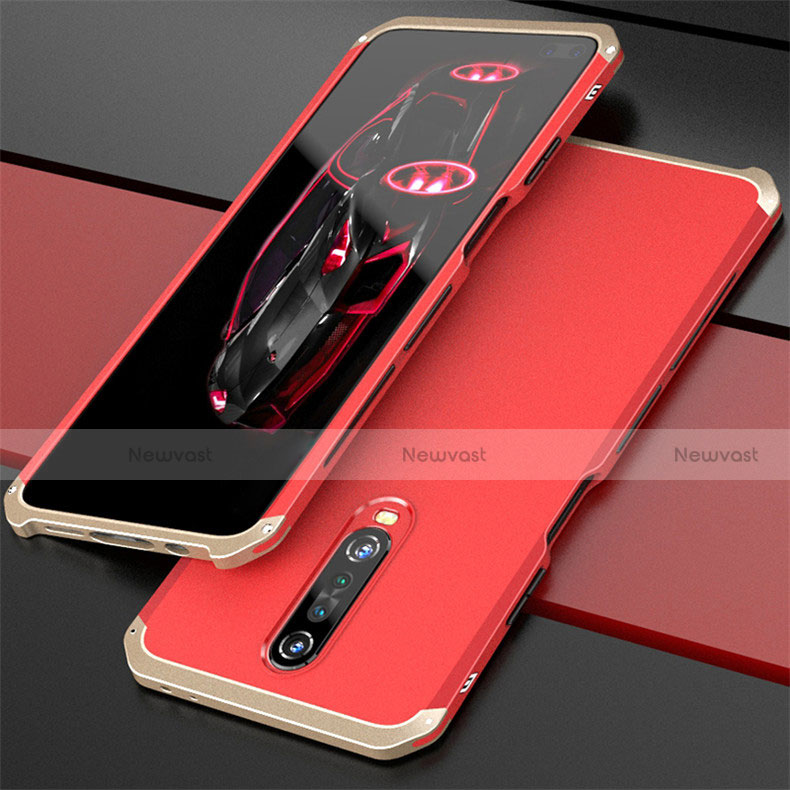 Luxury Aluminum Metal Cover Case for Xiaomi Redmi K30 5G Gold and Red