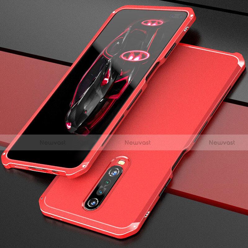 Luxury Aluminum Metal Cover Case for Xiaomi Redmi K30 5G Red