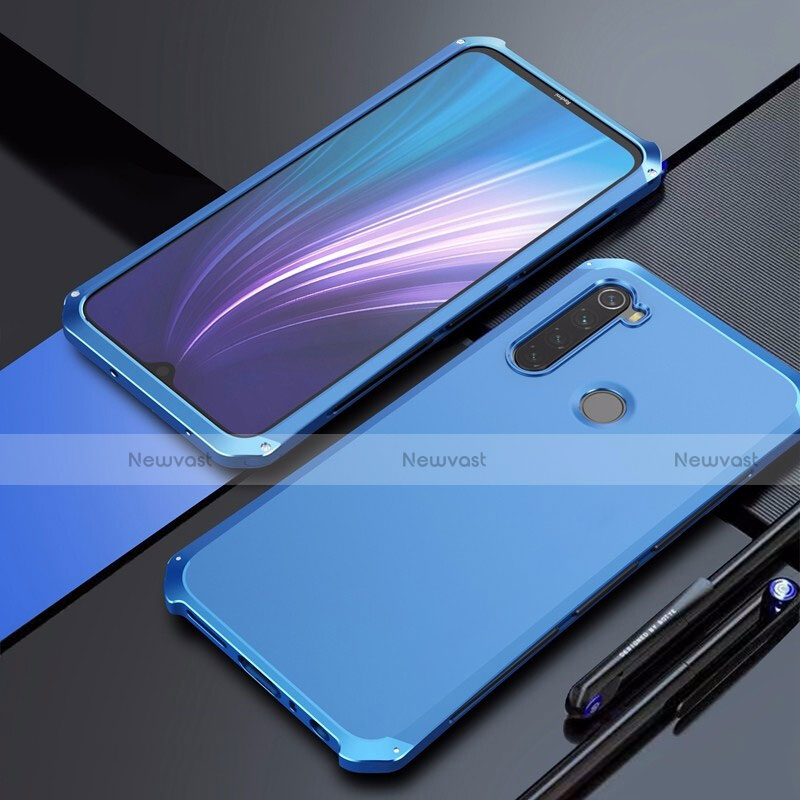Luxury Aluminum Metal Cover Case for Xiaomi Redmi Note 8 Blue