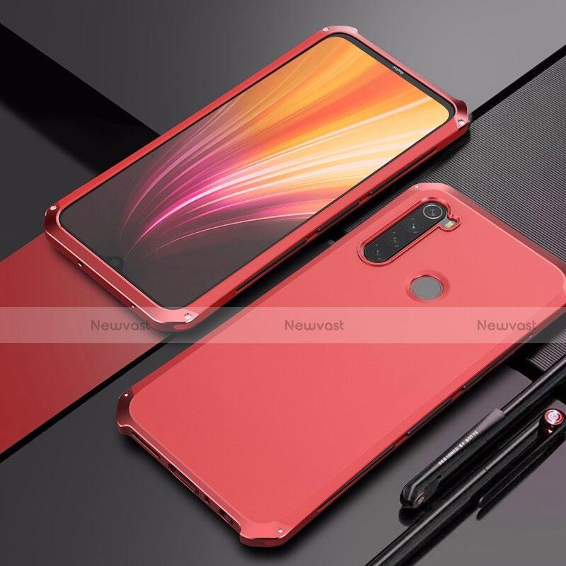 Luxury Aluminum Metal Cover Case for Xiaomi Redmi Note 8 Red