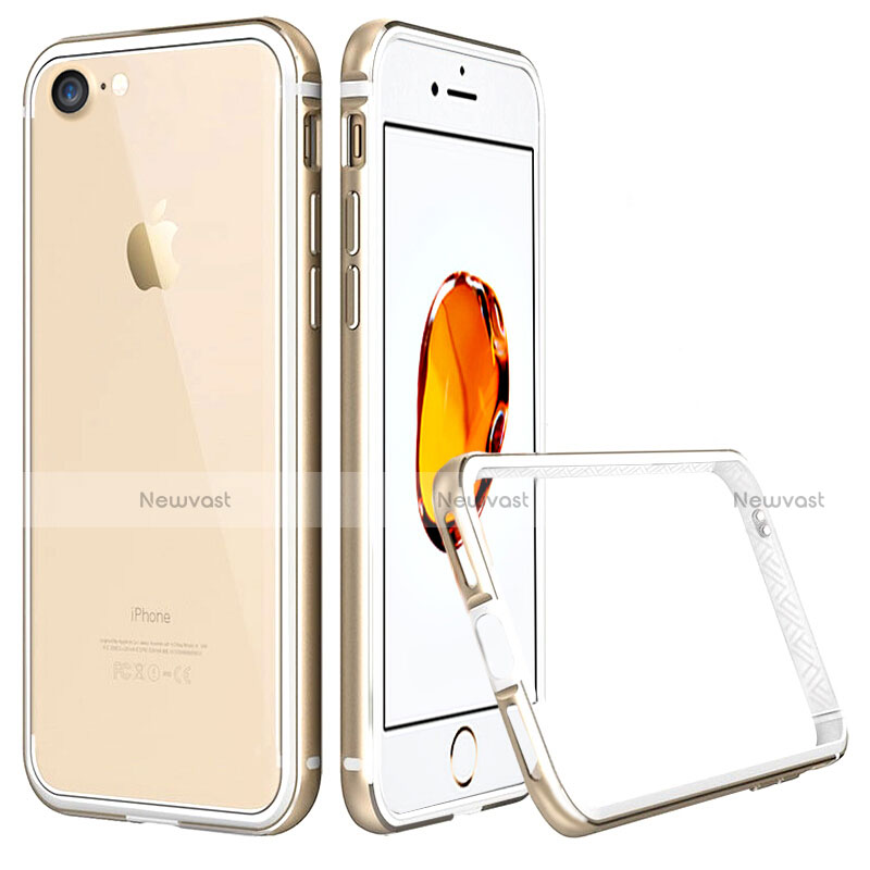 Luxury Aluminum Metal Frame Cover for Apple iPhone SE (2020) Gold