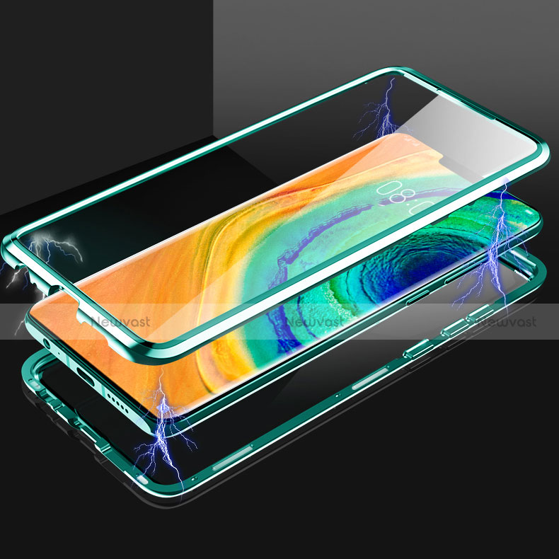 Luxury Aluminum Metal Frame Mirror Cover Case 360 Degrees for Huawei Mate 30 Pro 5G