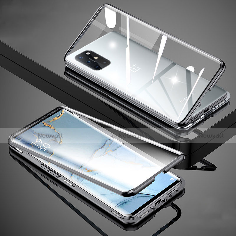 Luxury Aluminum Metal Frame Mirror Cover Case 360 Degrees for OnePlus 8T 5G