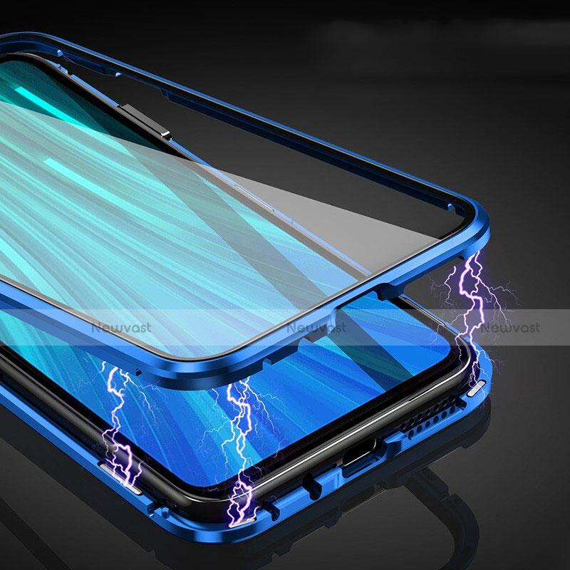 Luxury Aluminum Metal Frame Mirror Cover Case 360 Degrees for Xiaomi Redmi Note 8