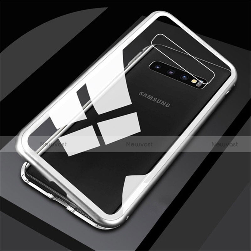 Luxury Aluminum Metal Frame Mirror Cover Case 360 Degrees M01 for Samsung Galaxy S10