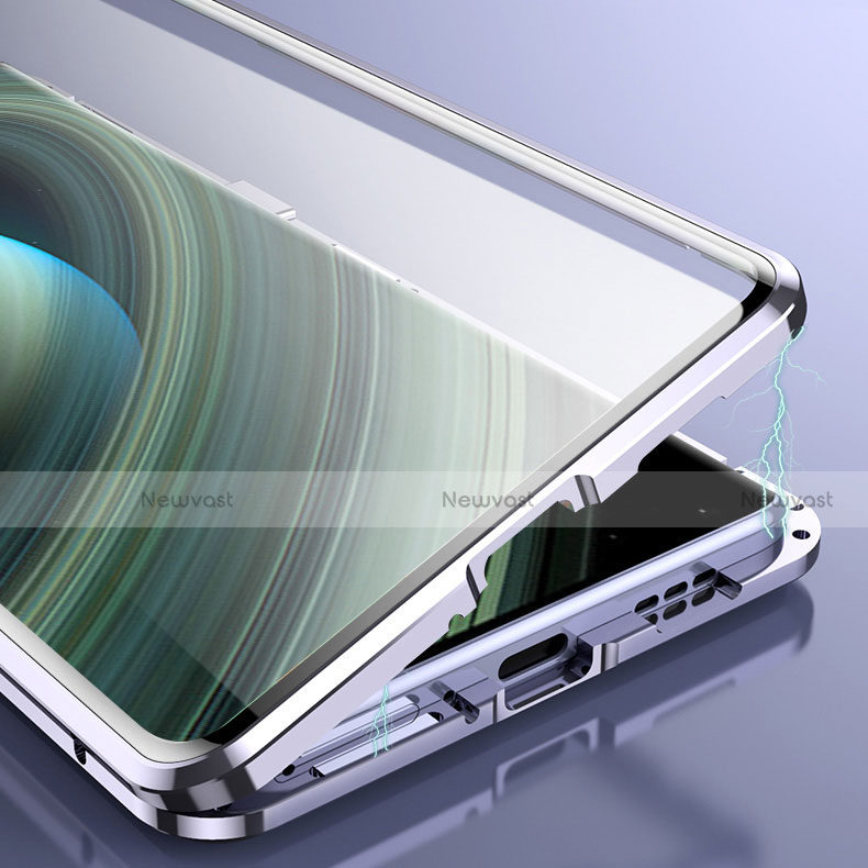 Luxury Aluminum Metal Frame Mirror Cover Case 360 Degrees M01 for Xiaomi Mi 10 Ultra