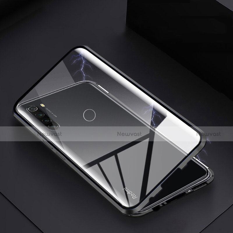Luxury Aluminum Metal Frame Mirror Cover Case 360 Degrees M01 for Xiaomi Redmi Note 8 Black