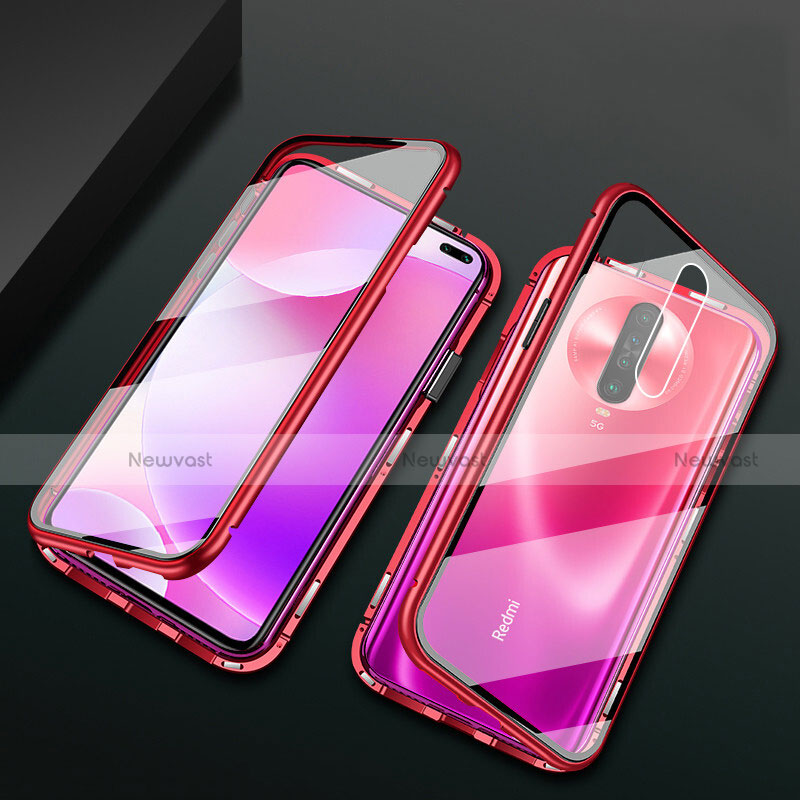 Luxury Aluminum Metal Frame Mirror Cover Case 360 Degrees M03 for Xiaomi Redmi K30 5G