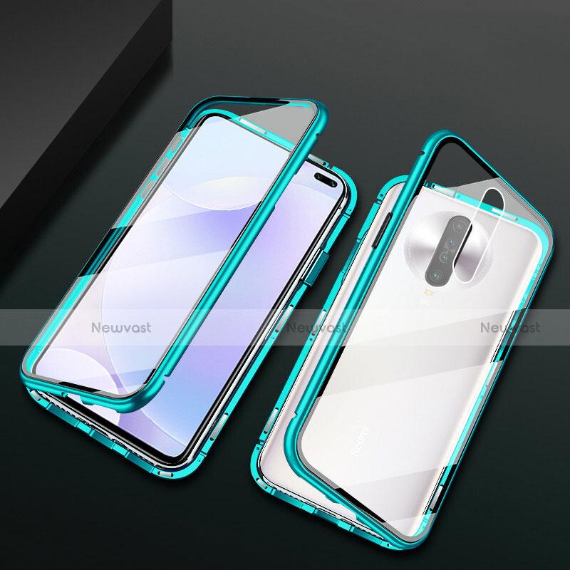 Luxury Aluminum Metal Frame Mirror Cover Case 360 Degrees M03 for Xiaomi Redmi K30 5G Green