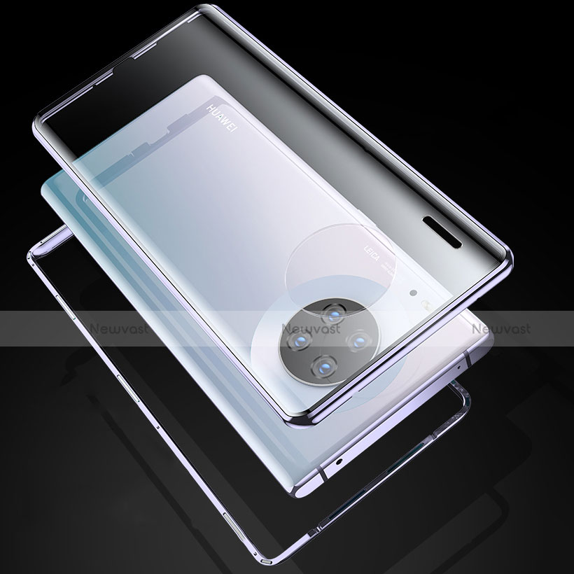 Luxury Aluminum Metal Frame Mirror Cover Case 360 Degrees M04 for Huawei Mate 30 Pro 5G