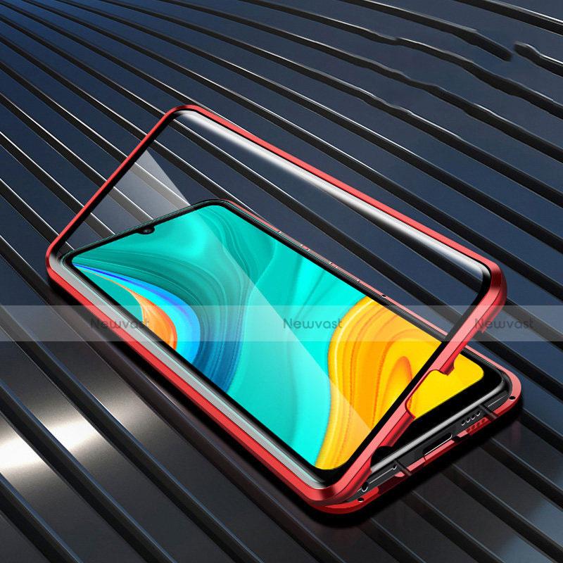 Luxury Aluminum Metal Frame Mirror Cover Case 360 Degrees M05 for Huawei Enjoy 10e
