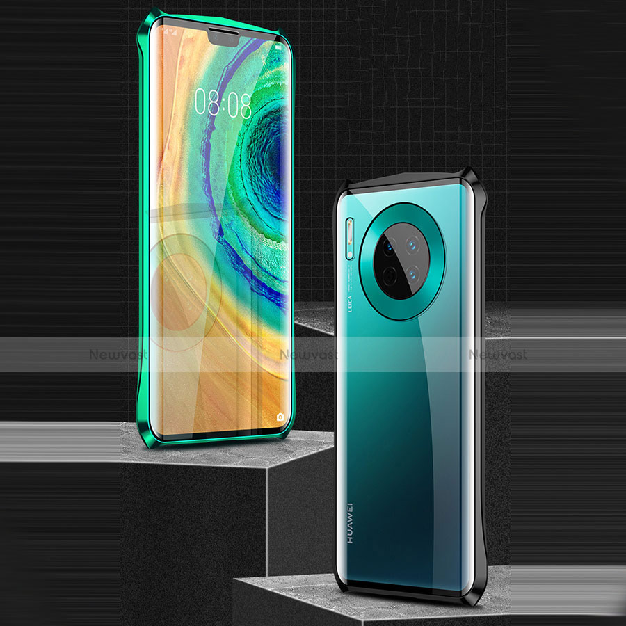 Luxury Aluminum Metal Frame Mirror Cover Case 360 Degrees M05 for Huawei Mate 30 Pro 5G