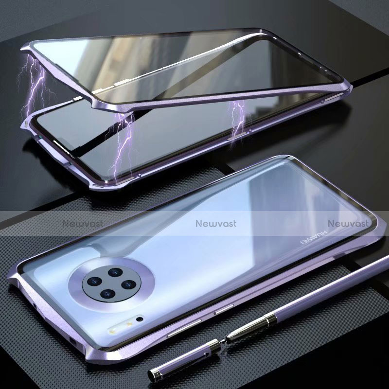Luxury Aluminum Metal Frame Mirror Cover Case 360 Degrees M06 for Huawei Mate 30 Pro 5G