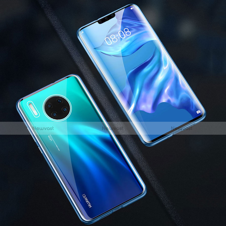 Luxury Aluminum Metal Frame Mirror Cover Case 360 Degrees M07 for Huawei Mate 30 Pro 5G