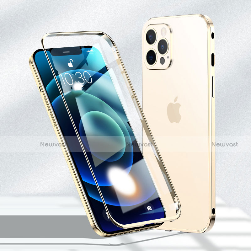 Luxury Aluminum Metal Frame Mirror Cover Case 360 Degrees N01 for Apple iPhone 12 Pro