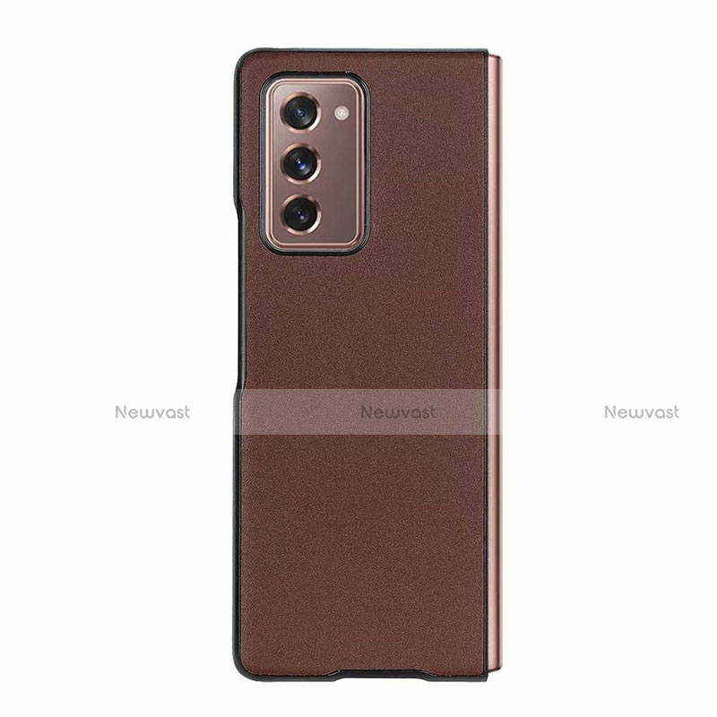 Luxury Leather Snap On Case Cover S03 for Samsung Galaxy Z Fold2 5G