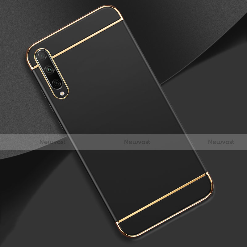 Luxury Metal Frame and Plastic Back Cover Case M01 for Huawei Enjoy 10S Black