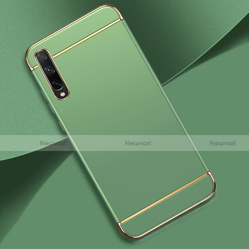Luxury Metal Frame and Plastic Back Cover Case M01 for Huawei Enjoy 10S Cyan