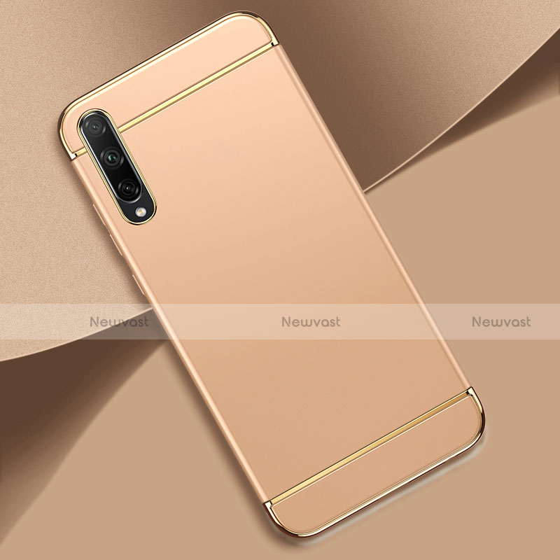 Luxury Metal Frame and Plastic Back Cover Case M01 for Huawei Enjoy 10S Gold