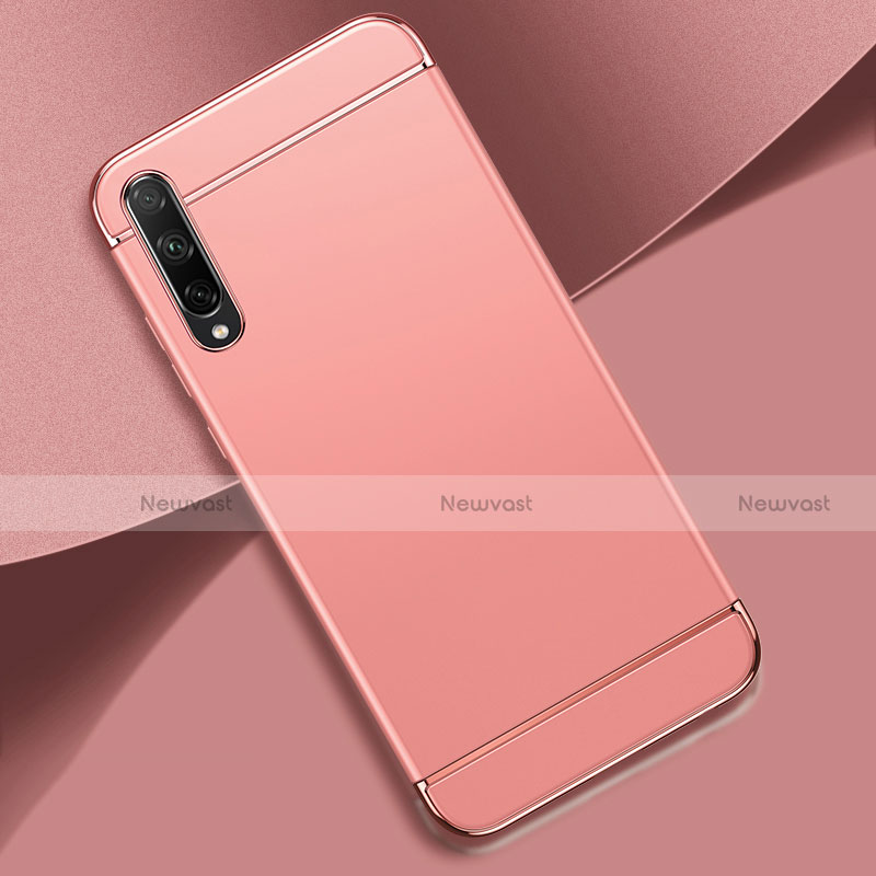 Luxury Metal Frame and Plastic Back Cover Case M01 for Huawei Enjoy 10S Rose Gold