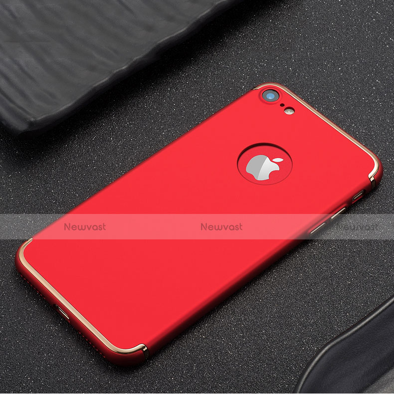 Luxury Metal Frame and Plastic Back Cover for Apple iPhone SE (2020) Red