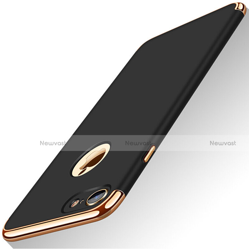 Luxury Metal Frame and Plastic Back Cover M01 for Apple iPhone SE (2020) Black
