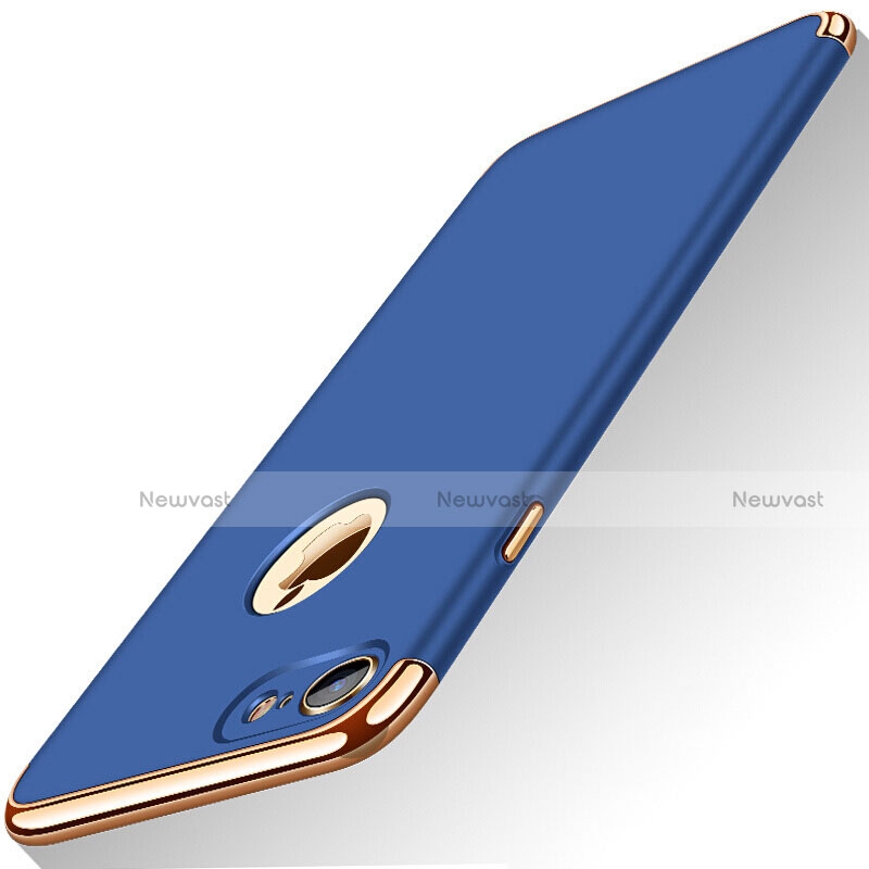 Luxury Metal Frame and Plastic Back Cover M01 for Apple iPhone SE (2020) Blue