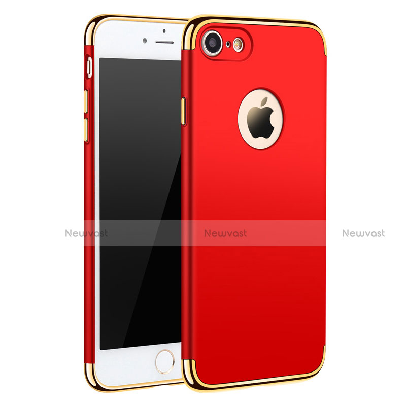 Luxury Metal Frame and Plastic Back Cover M01 for Apple iPhone SE (2020) Red