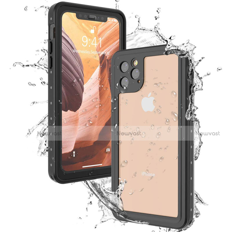 Silicone and Plastic Waterproof Cover Case 360 Degrees Underwater Shell U01 for Apple iPhone 11 Pro Max Black