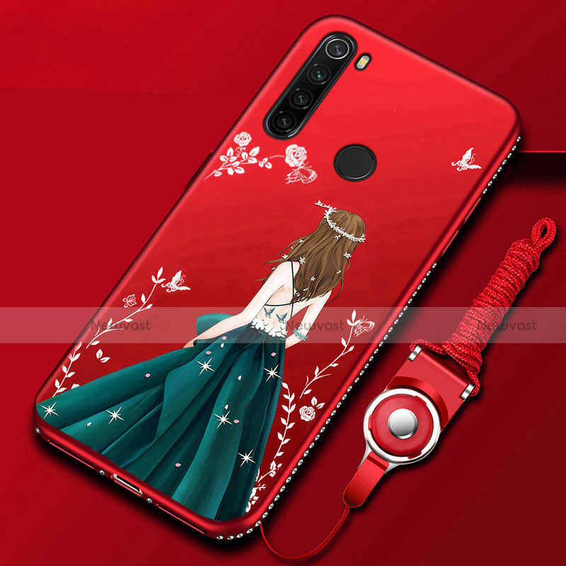 Silicone Candy Rubber Gel Dress Party Girl Soft Case Cover for Xiaomi Redmi Note 8 Mixed