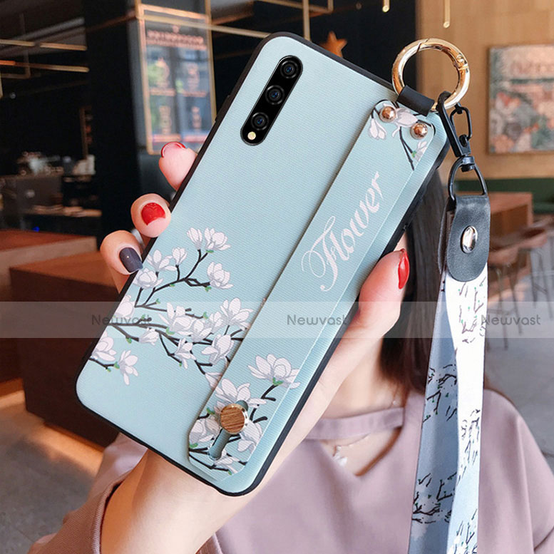 Silicone Candy Rubber Gel Flowers Soft Case Cover S02 for Huawei Enjoy 10S