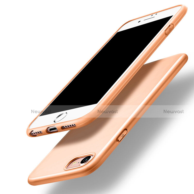 Silicone Candy Rubber Gel Soft Case for Apple iPhone SE (2020) Orange