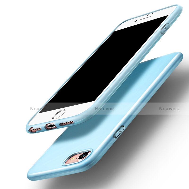 Silicone Candy Rubber Gel Soft Case for Apple iPhone SE (2020) Sky Blue