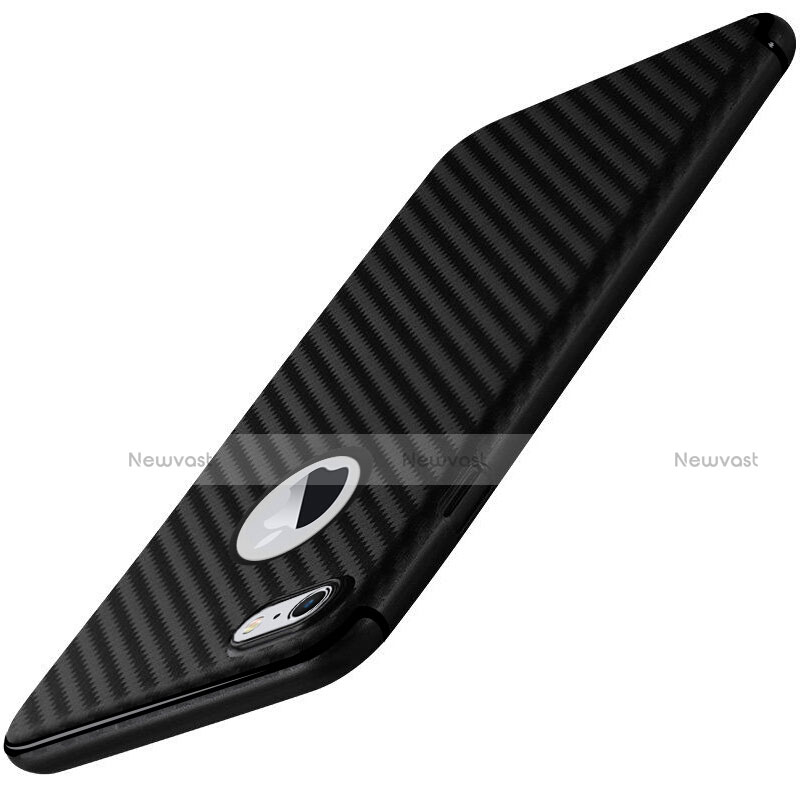 Silicone Candy Rubber Gel Twill Soft Cover for Apple iPhone SE (2020) Black