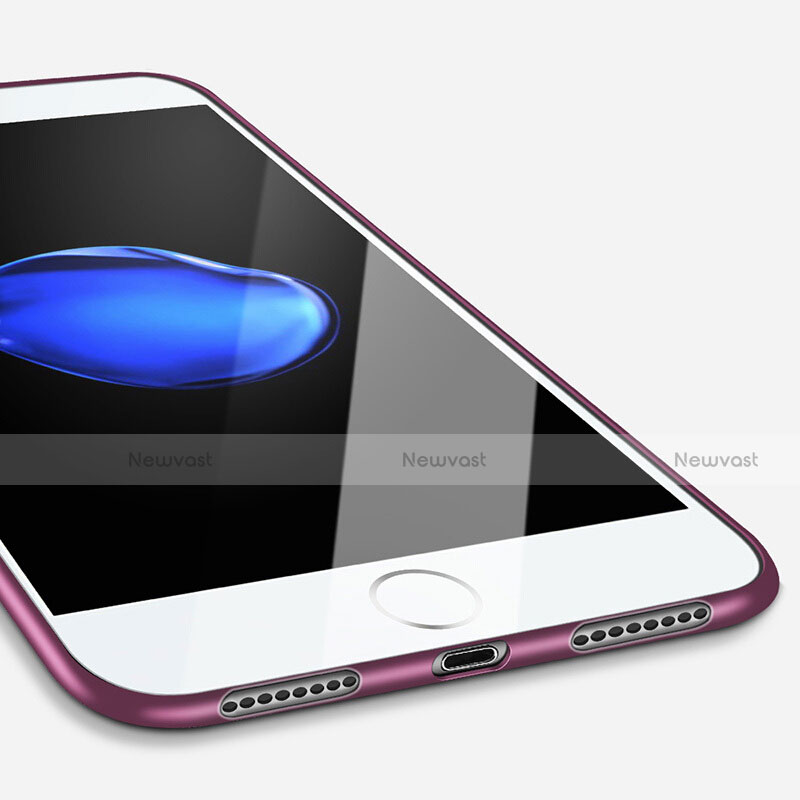 Silicone Candy Rubber Soft Cover Gel for Apple iPhone SE (2020) Purple
