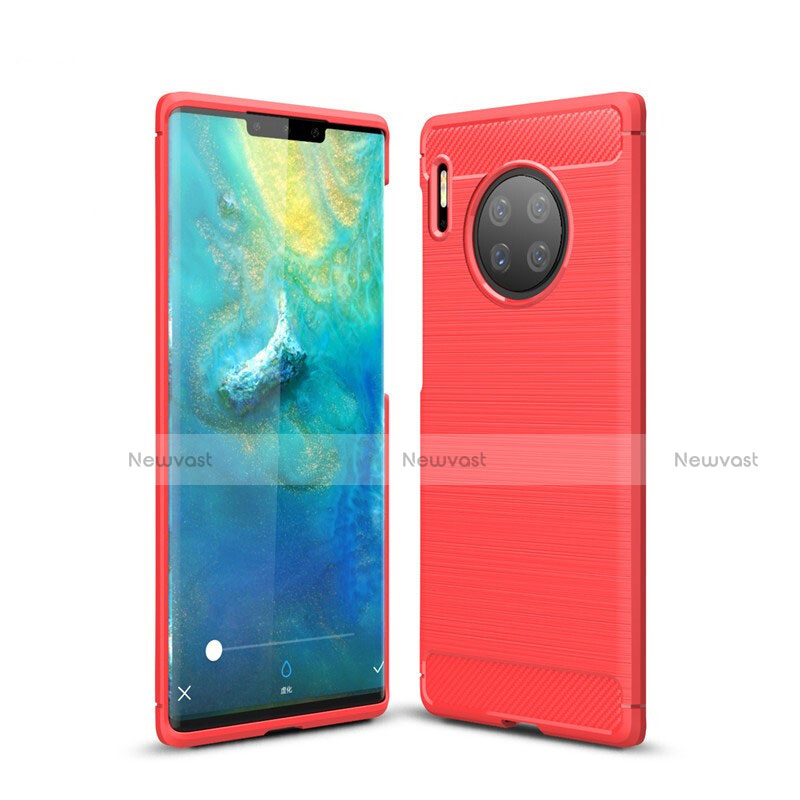 Silicone Candy Rubber TPU Line Soft Case Cover for Huawei Mate 30 Pro 5G Red