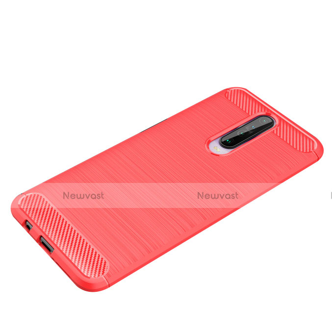 Silicone Candy Rubber TPU Line Soft Case Cover for Xiaomi Redmi K30 5G Red
