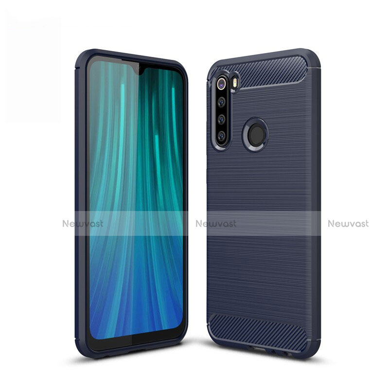 Silicone Candy Rubber TPU Line Soft Case Cover for Xiaomi Redmi Note 8 Blue