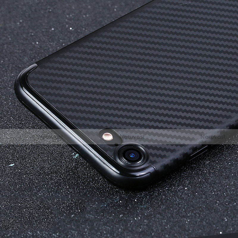 Silicone Candy Rubber TPU Twill Soft Case B02 for Apple iPhone SE (2020) Black