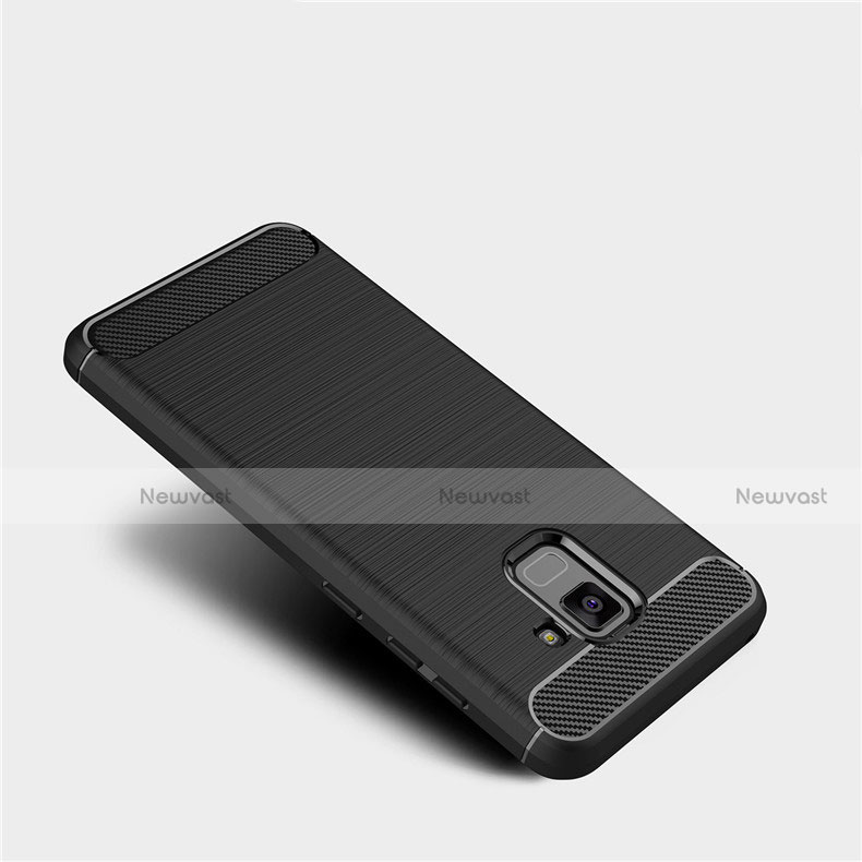 Silicone Candy Rubber TPU Twill Soft Case Cover for Samsung Galaxy A5 (2018) A530F