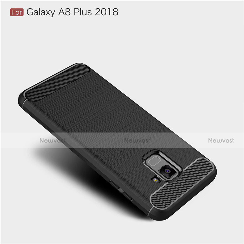 Silicone Candy Rubber TPU Twill Soft Case Cover for Samsung Galaxy A8+ A8 Plus (2018) A730F