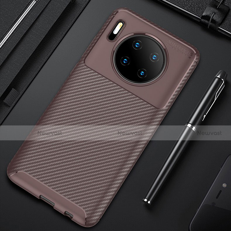 Silicone Candy Rubber TPU Twill Soft Case Cover S01 for Huawei Mate 30 Pro 5G