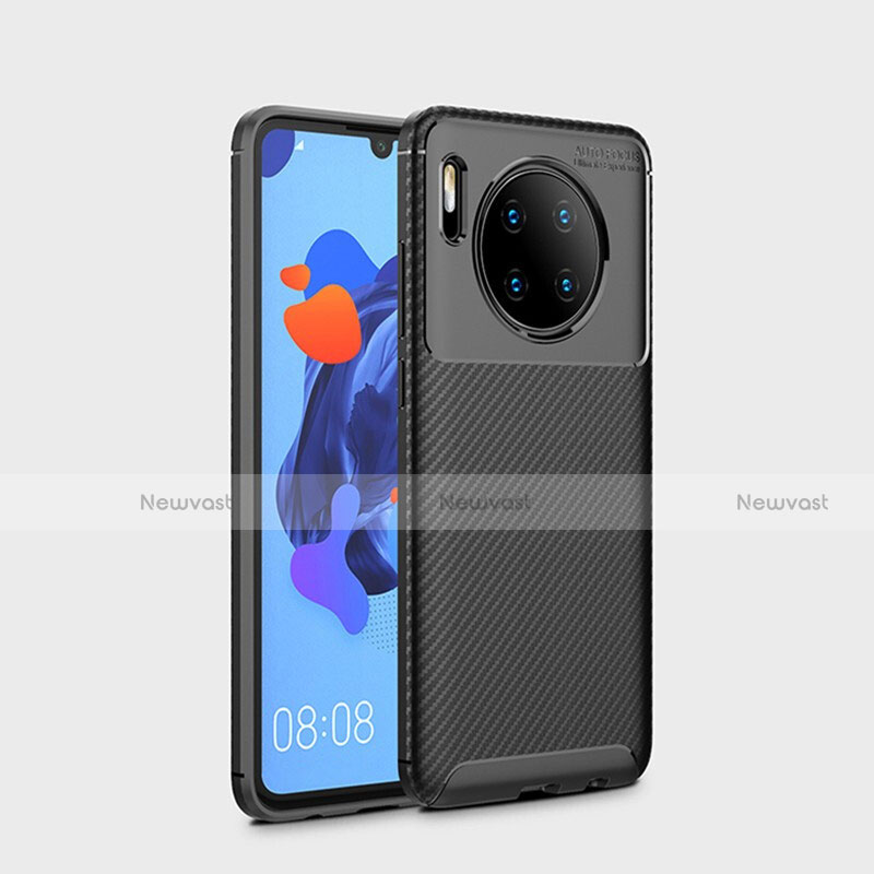 Silicone Candy Rubber TPU Twill Soft Case Cover S01 for Huawei Mate 30 Pro 5G Black