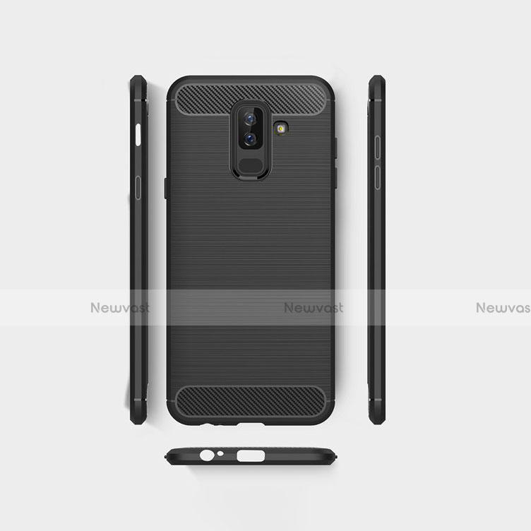 Silicone Candy Rubber TPU Twill Soft Case for Samsung Galaxy A9 Star Lite Black