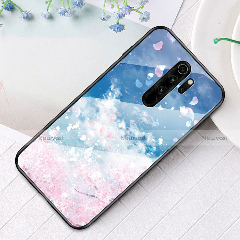 Silicone Frame Fashionable Pattern Mirror Case Cover for Xiaomi Redmi Note 8 Pro