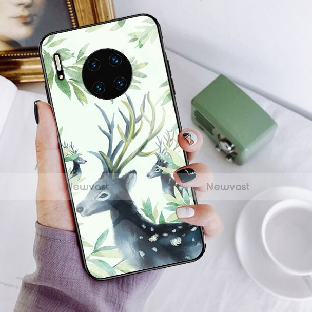 Silicone Frame Fashionable Pattern Mirror Case Cover S02 for Huawei Mate 30 Pro 5G