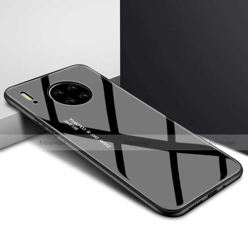Silicone Frame Mirror Case Cover for Huawei Mate 30 Pro 5G Black