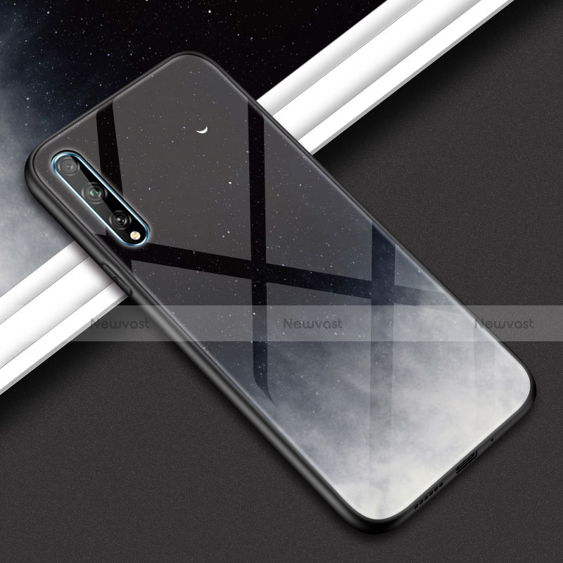 Silicone Frame Mirror Case Cover for Huawei Y8p Dark Gray