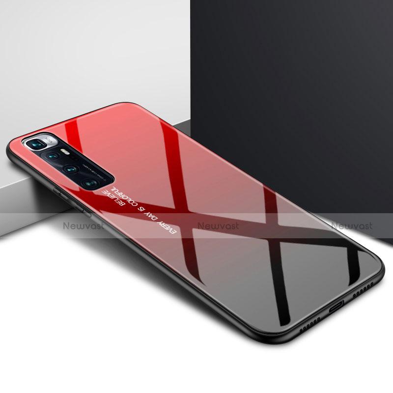 Silicone Frame Mirror Case Cover for Xiaomi Mi 10 Ultra Red